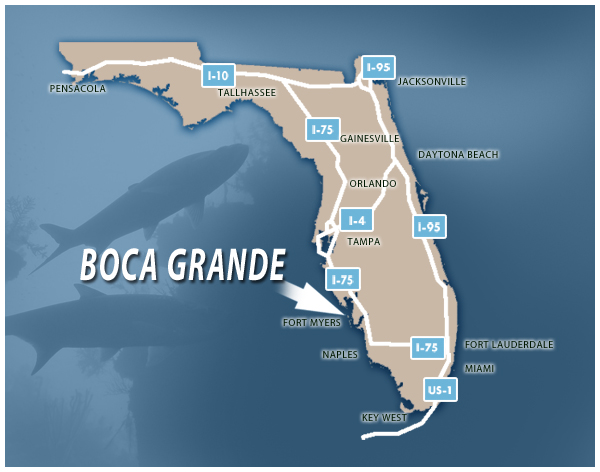 Getting to Boca Grande Florida, Tarpon Capital of the World - Gulf Coast Charter Brokers